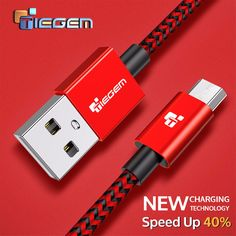 Nylon Micro USB Cable TIEGEM 3A Fast Charging USB Sync Data Mobile Phone Android Adapter Charger Cable for Samsung Sony HTC LG //Price: $2.46//     #onlineshop