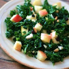 "Kale and Feta Salad | ""Great way to get more kale in my diet."""