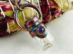 Wish necklace dandelion necklace wishes electroformed | Etsy