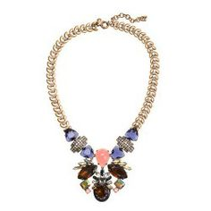 J.Crew Symmetrical stone statement necklace Original $135 Now $78