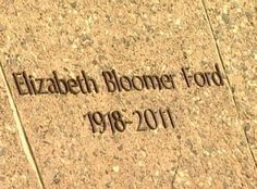 Grave Marker- Betty Ford, First Lady of the U.S.. After the service, she was buried next to her husband at the Gerald R. Ford Museum, in Grand Rapids, Michigan.