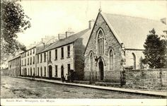 South Mall, Westport, Co. County Mayo, Old Postcards, Mall, Ireland, Irish
