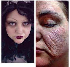 Old age sfx makeup before & after