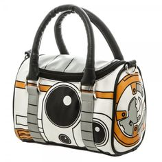 Star Wars The Force Awakens: BB8 Mini Satchel - Faux leather purse w/ metal zipper - 2 padded handles, removable shoulder strap w/ metal clips - Star Wars BB8 theme - Officially licensed