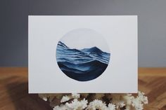 Poetic Ocean Watercolor Painting