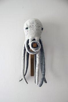 Small Octopus Stuffed Animal <0> Plush Toy <0> Cotton Jersey &  Wool