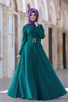 Pınar Şems Elbise Güz PS-5030 Petrol