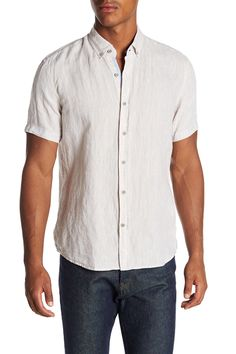 Fit: this style fits true to size. Button down collar. length (size M). Nordstrom Rack, Button Down Shirt, Men Casual, Slim, Fitness, Sleeves, Mens Tops, Shirts, Collection