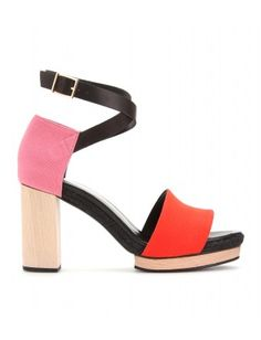 Pierre Hardy colorblock sandal in pink and orange-even better.
