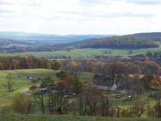 View of Mount Bleak Farm - from Hiking Trail at Sky Meadows State Park. Delaplane, VA, Fauquier County http://www.dcr.virginia.gov/state-parks/sky-meadows.shtml