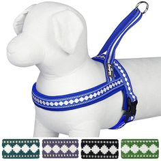 Blueberry Pet Soft and Comfortable Harnesses Classic Solid No Pull Jacquard Neoprene Padded Dog Harness, Matching Collar and Leash Available Separately > To view further, visit now : Christmas Presents for Cats