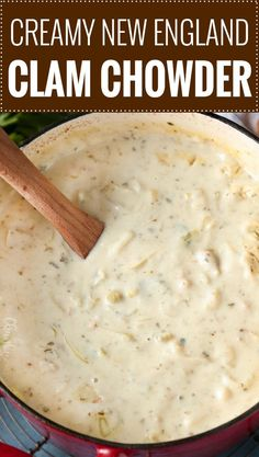 New England Clam Chowder soup Recipes is One Of the Liked soup Recipes Of Many Persons Around the World. Besides Easy to Make and Great Taste, This New England Clam Chowder soup Recipes Also Health Indeed. Crockpot Clam Chowder, Best Clam Chowder Recipe, Clam Chowder Soup, Homemade Clam Chowder, Red Lobster Clam Chowder Recipe, Homemade Soup, Clam Chowder New England, Fish Chowder Recipe New England, Crockpot Recipes