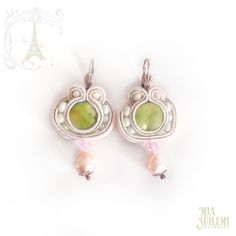 CATERINA soutache earrings  Wedding Bridal por MiaSuilemi en Etsy