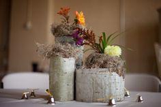 Birch Vase for Wedding Flowers
