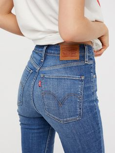 Levi s Mile High Super Skinny from Free People! High Waist Jeans 74fbbc5fe39