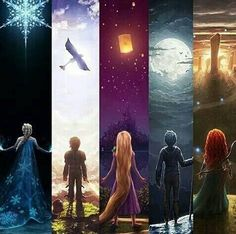 Frozen, How to Train you Dragon, Tangled, Rise of the Guardians and Brave.