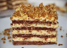 Karamellás szelet - Blikk Rúzs Sweet Desserts, Sweet Recipes, Delicious Desserts, Yummy Food, Hungarian Desserts, Hungarian Recipes, Cookie Recipes, Dessert Recipes, Torte Cake