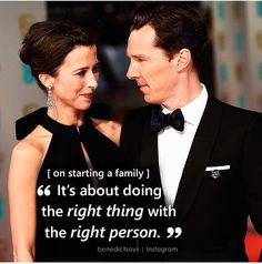Benedict Cumberbatch about wife Sophie Hunter