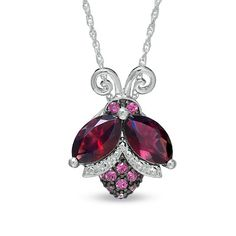 Okay, this just screams cute! A ladybug made of Brazilian Garnet, with Marquise too.