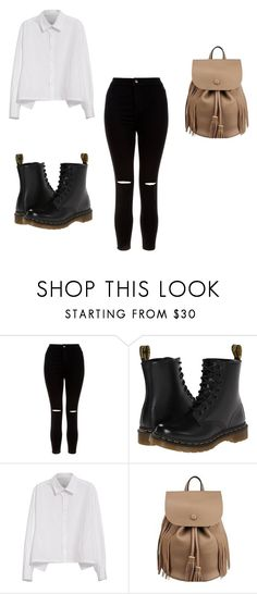 """salida"" by melanifernand on Polyvore featuring moda, New Look, Dr. Martens y Y's by Yohji Yamamoto"