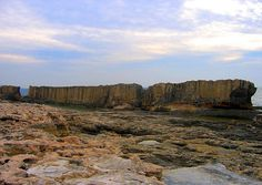 Ancient Phoenician wall built for protection from tidal waves, Batroun, Lebanon
