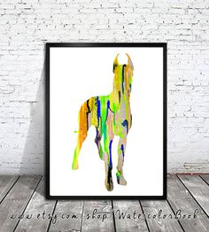 Great Dane 10 Watercolor Print,Children's Wall, Art Home Decor, dog watercolor,watercolor painting,animal watercolor, Great Dane art,dog art