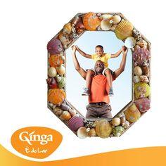 Bom dia Família Ginga!  Para os que na passada semana seguiram a nossa sugestão, e apanharam conchinhas na praia, está na hora de vos ensinar, como fazer uma decoração para a casa com elas.  Clica sobre a foto para conheceres os passos de como fazer esta moldura.  Ginga – a marca da família angolana