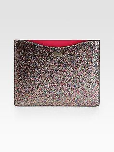 Kate Spade New York Glitter iPad Sleeve makes me want an iPad now!