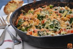 Quick and Easy Pasta Skillet Bake recipe