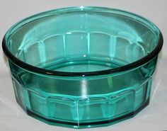 Vintage Green Depression Glass Serving Bowl France by DreamyHollow