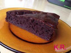 proteínový čokoládový koláč