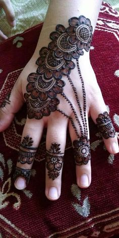 Mehndi henna designs are always searchable by Pakistani women and girls. Women, girls and also kids apply henna on their hands, feet and also on neck to look more gorgeous and traditional. Dulhan Mehndi Designs, Mehndi Designs Finger, Arabian Mehndi Design, Henna Hand Designs, Simple Arabic Mehndi Designs, Mehndi Designs For Girls, Mehndi Designs For Beginners, Bridal Henna Designs, Mehndi Design Pictures