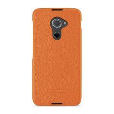 TETDED Premium Leather Case for BlackBerry DTEK60 -- Caen (LC: Orange) #TETDED