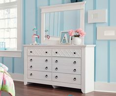 Teenage Bedroom: Iseydona Dresser by Ashley Furniture at Kensington Furniture. Perfect for a teen girl's room!