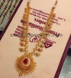Jewellery Designs: Chakri Uncuts Mango Necklace