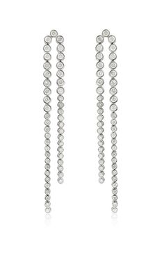 White Gold River Balls Earrings by Elise Dray, Fall-Winter 2015.  18k white gold and grey diamonds. (=)