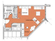 The Parkway Retirement Community 95 Paget Floor Plans--One-Bedroom---Apartment-C---540-sqft