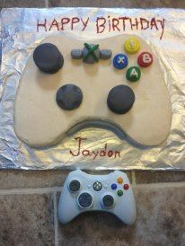 Cake Designs For 11 Year Old Boy : Xbox controller cake I made for my 11 year olds birthday!