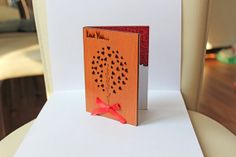 Love Tree Valentine's Day Card Love Card by CardsWooden on Etsy, $10.00