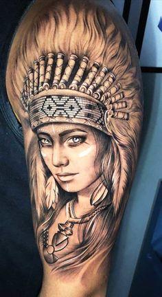 Hip Tattoos Women, Girl Arm Tattoos, Feather Tattoos, Forearm Tattoo Men, Leg Tattoos, Indian Women Tattoo, Indian Girl Tattoos, Indian Skull Tattoos, Tribal Tattoos