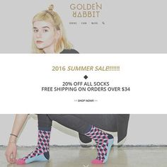 SUMMER SALE!!!!!!!! 1. 20% off all socks 2. free shipping on orders over $34  #socks #brand #socksbrand  #sockstagram #shoes #design #lookbook  #color #colourful #onlinestore  #like4like  #ootd #men #photooftheday #menswear  #gift #accessories  #swag #streetstyle #stylish #gq #dandy #iphone #phonecase #sale #freeshipping #summer #summersale #goldenrabbit
