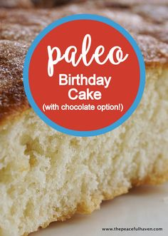 Vanilla Birthday Cake Yes! A PALEO Birthday cake that actually looks and tastes GREAT! Recipe has…Yes! A PALEO Birthday cake that actually looks and tastes GREAT! Recipe has… Paleo Cake Recipes, Detox Recipes, Whole Food Recipes, Cooking Recipes, Paleo Meals, Paleo Food, Paleo Bread, Vegan Baking, Birthday Cakes
