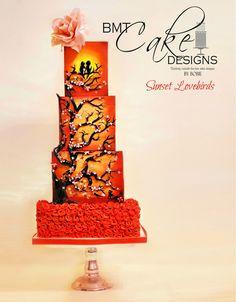 Sunset Lovebirds - Cake Masters February 2015 Issue T