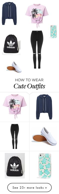 """Cute school outfit"" by rissyd16 on Polyvore featuring Miss Selfridge, MANGO, Topshop, adidas and Skinnydip"