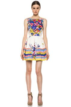 Red Valentino|Flowers Bouquet Print Dress in Ibisco