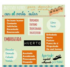Adjetivos y expresiones que se usan con el verbo ESTAR (y no con SER)