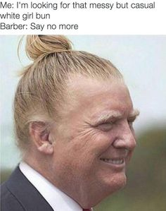 NOW we're talking, Trump...you look a lot better!