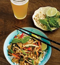 Witbier Thai Red Curry Beef with Basil recipe   DRAFT Magazine