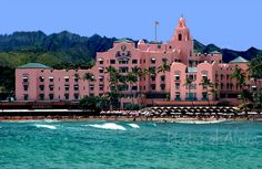 The Royal Hawaiian -- so very pink, so very '40's, so very elegant and classic (in a pink Hawaiian kind of way) and just a really distinctive place. A favorite!