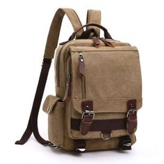 Scione Small Canvas Backpack Men Travel Back Pack Multifunctional Shoulder Bag Women Laptop Rucksack School Bags Daypack Rucksack Backpack, Backpack Purse, Messenger Bag, Laptop Backpack, Duffel Bag, Fashion Backpack, Small Backpack, Crossbody Bags, Chic Backpack